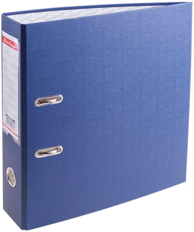 Berlingo Папка-регистратор цвет синий AM4513AM4513Обложка из жесткого износостойкого картона с односторонним покрытием из бумвинила. Конструкция разработана с учетом всех особенностей эксплуатации. Выгодно отличаются надежным арочным механизмом из качественного металла, наличием кармана на корешке со сменным информационным ярлыком для маркировки, полем для записей на внутренней стороне обложки, отверстием для удобного снятия папки с полки. Цвета в ассортименте.