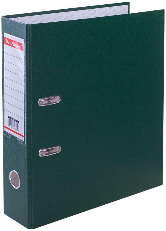 Berlingo Папка-регистратор цвет зеленый AM4516AM4516Обложка из жесткого износостойкого картона с односторонним покрытием из бумвинила. Конструкция разработана с учетом всех особенностей эксплуатации. Выгодно отличаются надежным арочным механизмом из качественного металла, наличием кармана на корешке со сменным информационным ярлыком для маркировки, полем для записей на внутренней стороне обложки, отверстием для удобного снятия папки с полки. Цвета в ассортименте.