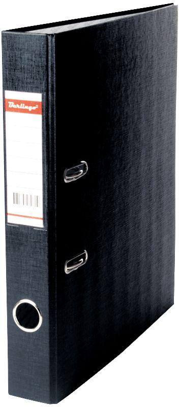 Berlingo Папка-регистратор ширина корешка 50 мм цвет черныйFS-36054Папка-регистратор Berlingo пригодится в каждом офисе и доме для хранения больших объемов документов.Обложка изготовлена из жесткого износостойкого картона с односторонним покрытием из бумвинила. Конструкция папки разработана с учетом всех особенностей эксплуатации.Папка оснащена прочным металлическим арочным механизмом, обеспечивающим надежную фиксацию перфорированных бумаг и документов формата А4. Круглое отверстие в корешке папки облегчит ее извлечение с полки, а прозрачный карман со съемной этикеткой позволяет маркировать содержимое. На внутренней стороне обложки размещено поле для записей.Папка-регистратор станет вашим надежным помощником, она упростит работу с бумагами и документами и защитит их от повреждения, пыли и влаги.Ширина корешка 5 см.