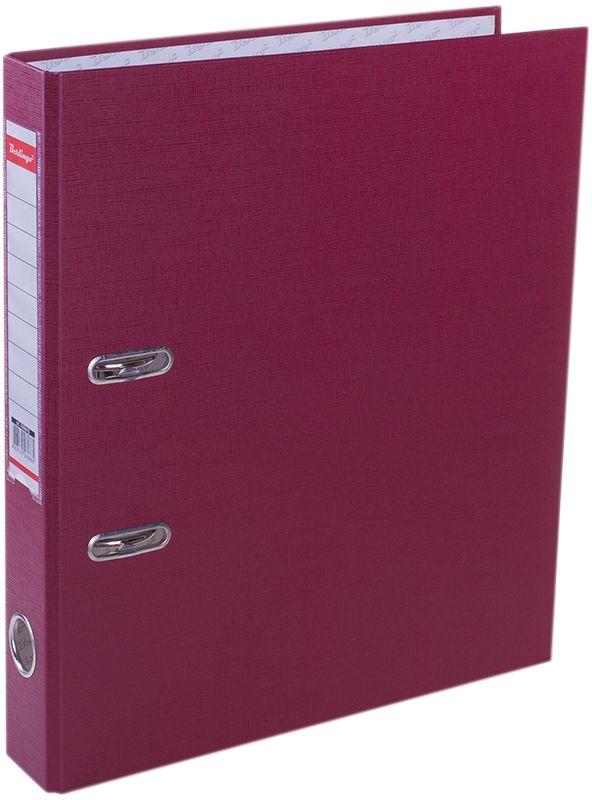 Berlingo Папка-регистратор цвет бордовыйAM4615Обложка из жесткого износостойкого картона с односторонним покрытием из бумвинила. Конструкция разработана с учетом всех особенностей эксплуатации. Выгодно отличаются надежным арочным механизмом из качественного металла, наличием кармана на корешке со сменным информационным ярлыком для маркировки, полем для записей на внутренней стороне обложки, отверстием для удобного снятия папки с полки. Цвета в ассортименте.