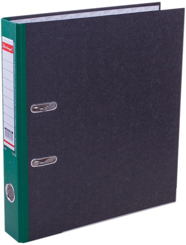 Berlingo Папка-регистратор цвет мраморный зеленыйFS-36054Папка-регистратор Berlingo пригодится в каждом офисе и доме для хранения больших объемовдокументов.Обложка изготовлена из жесткого износостойкого картона. Папкаоснащена прочным металлическим арочным механизмом, обеспечивающим надежную фиксациюперфорированных бумаг и документов формата А4. Круглое отверстие в корешке папки облегчитее извлечение с полки, а прозрачный карман со съемной этикеткой позволяет маркироватьсодержимое. На внутренней стороне обложки размещено поле для записей.Нижняя грань папки имеет металлическую окантовку.Папка-регистратор станет вашим надежным помощником, она упростит работу с бумагами идокументами и защитит их от повреждения, пыли и влаги.