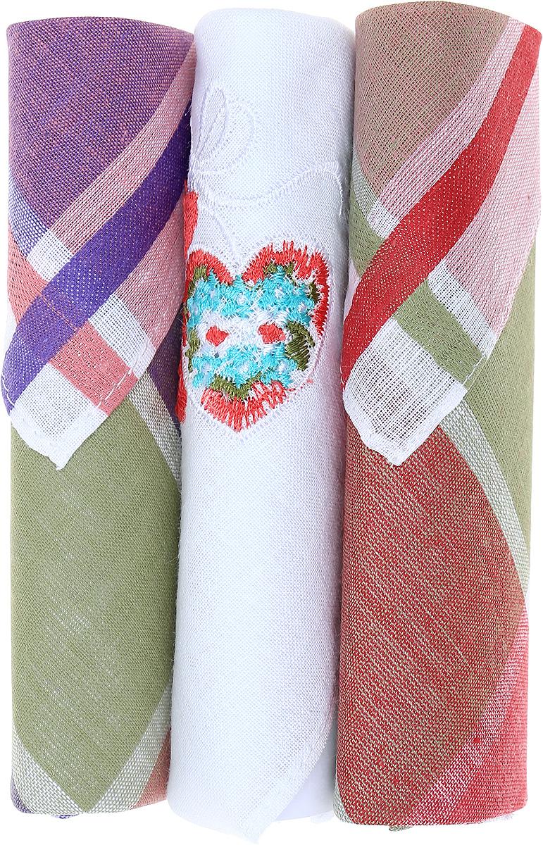 Платок носовой женский Zlata Korunka, цвет: коричневый, белый, фиолетовый, 3 шт. 40423-5. Размер 28 см х 28 см40423-5Небольшой женский носовой платок Zlata Korunka изготовлен из высококачественного натурального хлопка, благодаря чему приятен в использовании, хорошо стирается, не садится и отлично впитывает влагу. Практичный и изящный носовой платок будет незаменим в повседневной жизни любого современного человека. Такой платок послужит стильным аксессуаром и подчеркнет ваше превосходное чувство вкуса. В комплекте 3 платка.