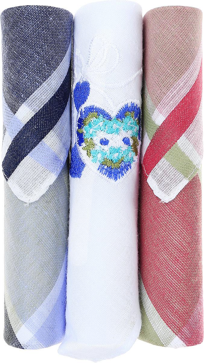 Платок носовой женский Zlata Korunka, цвет: темно-синий, коричневый, белый, 3 шт. 40423-4. Размер 28 см х 28 см39864|Серьги с подвескамиНебольшой женский носовой платок Zlata Korunka изготовлен из высококачественного натурального хлопка, благодаря чему приятен в использовании, хорошо стирается, не садится и отлично впитывает влагу. Практичный и изящный носовой платок будет незаменим в повседневной жизни любого современного человека. Такой платок послужит стильным аксессуаром и подчеркнет ваше превосходное чувство вкуса.В комплекте 3 платка.