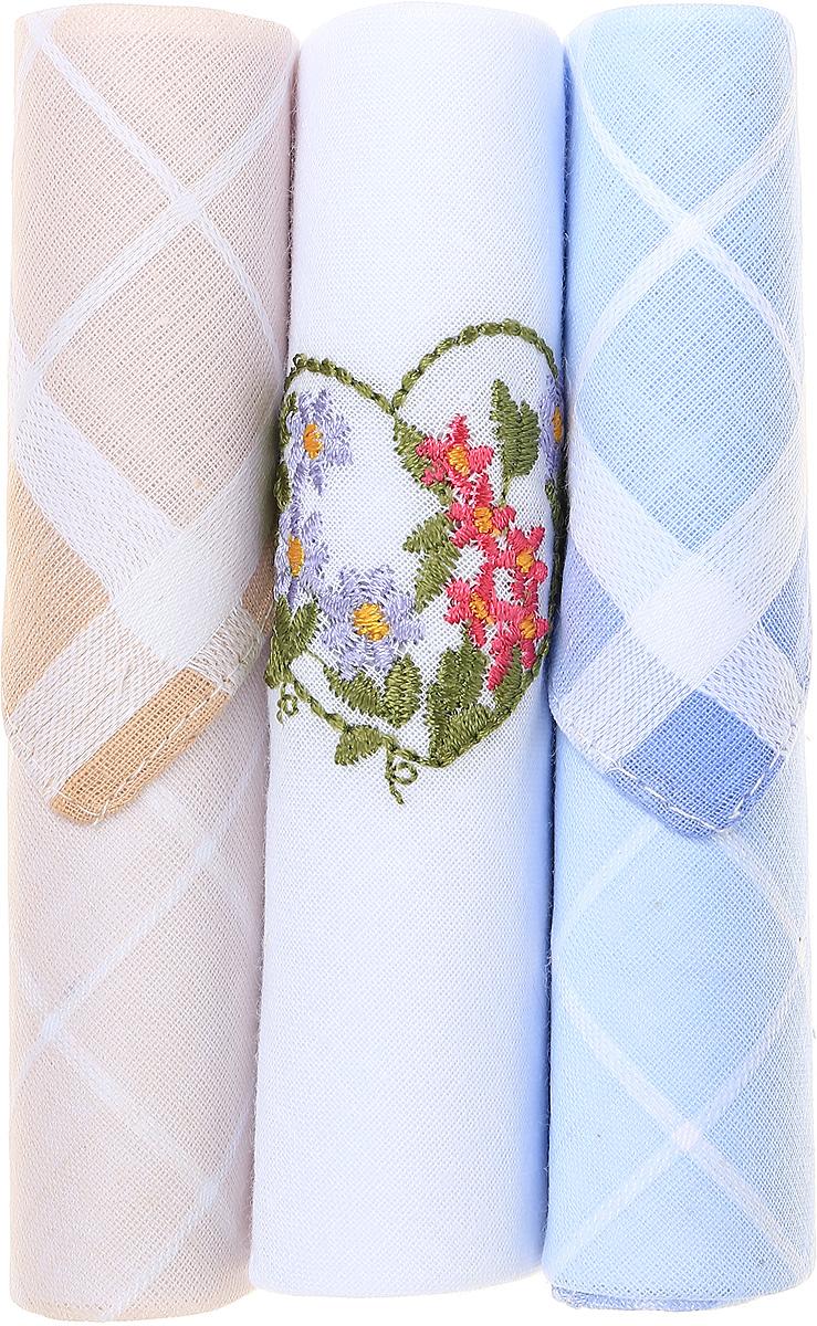 Платок носовой женский Zlata Korunka, цвет: бежевый, белый, голубой, 3 шт. 40423-36. Размер 28 см х 28 см40423-36Небольшой женский носовой платок Zlata Korunka изготовлен из высококачественного натурального хлопка, благодаря чему приятен в использовании, хорошо стирается, не садится и отлично впитывает влагу. Практичный и изящный носовой платок будет незаменим в повседневной жизни любого современного человека. Такой платок послужит стильным аксессуаром и подчеркнет ваше превосходное чувство вкуса. В комплекте 3 платка.