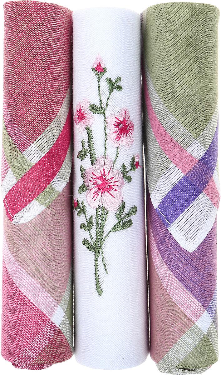 Платок носовой женский Zlata Korunka, цвет: бордовый, белый, зеленый, 3 шт. 40423-94. Размер 28 см х 28 смСерьги с подвескамиНебольшой женский носовой платок Zlata Korunka изготовлен из высококачественного натурального хлопка, благодаря чему приятен в использовании, хорошо стирается, не садится и отлично впитывает влагу. Практичный и изящный носовой платок будет незаменим в повседневной жизни любого современного человека. Такой платок послужит стильным аксессуаром и подчеркнет ваше превосходное чувство вкуса.В комплекте 3 платка.