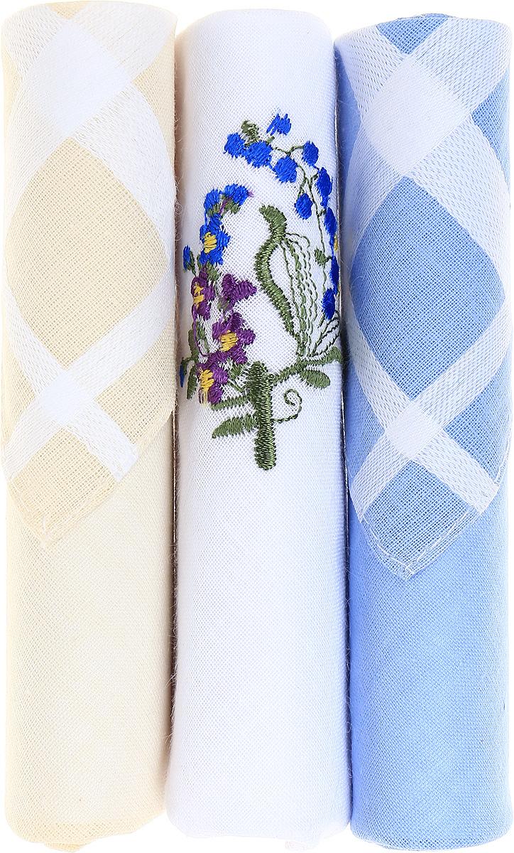 Платок носовой женский Zlata Korunka, цвет: бежевый, белый, голубой, 3 шт. 40423-131. Размер 28 см х 28 см40423-131Небольшой женский носовой платок Zlata Korunka изготовлен из высококачественного натурального хлопка, благодаря чему приятен в использовании, хорошо стирается, не садится и отлично впитывает влагу. Практичный и изящный носовой платок будет незаменим в повседневной жизни любого современного человека. Такой платок послужит стильным аксессуаром и подчеркнет ваше превосходное чувство вкуса. В комплекте 3 платка.