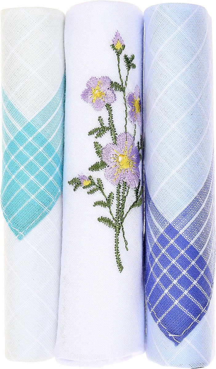 Платок носовой женский Zlata Korunka, цвет: бирюзовый, белый, голубой, 3 шт. 40423-127. Размер 28 см х 28 см40423-127Небольшой женский носовой платок Zlata Korunka изготовлен из высококачественного натурального хлопка, благодаря чему приятен в использовании, хорошо стирается, не садится и отлично впитывает влагу. Практичный и изящный носовой платок будет незаменим в повседневной жизни любого современного человека. Такой платок послужит стильным аксессуаром и подчеркнет ваше превосходное чувство вкуса. В комплекте 3 платка.