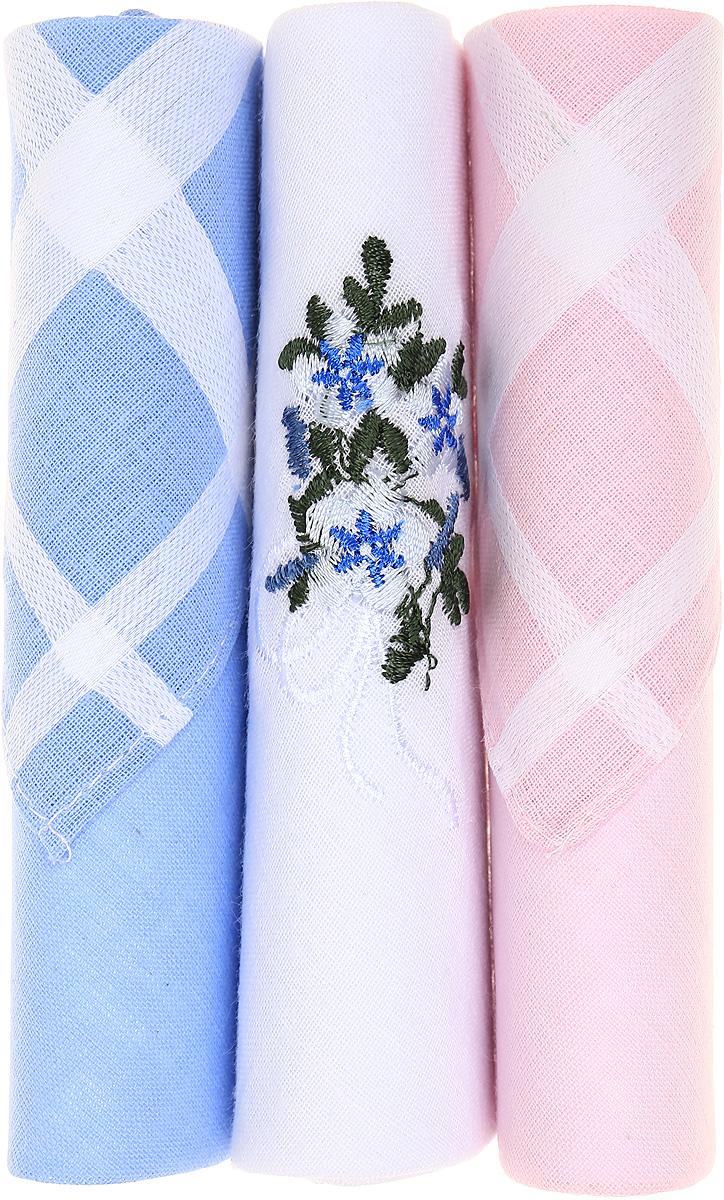 Платок носовой женский Zlata Korunka, цвет: голубой, белый, розовый, 3 шт. 40423-42. Размер 28 см х 28 см40423-42Небольшой женский носовой платок Zlata Korunka изготовлен из высококачественного натурального хлопка, благодаря чему приятен в использовании, хорошо стирается, не садится и отлично впитывает влагу. Практичный и изящный носовой платок будет незаменим в повседневной жизни любого современного человека. Такой платок послужит стильным аксессуаром и подчеркнет ваше превосходное чувство вкуса. В комплекте 3 платка.