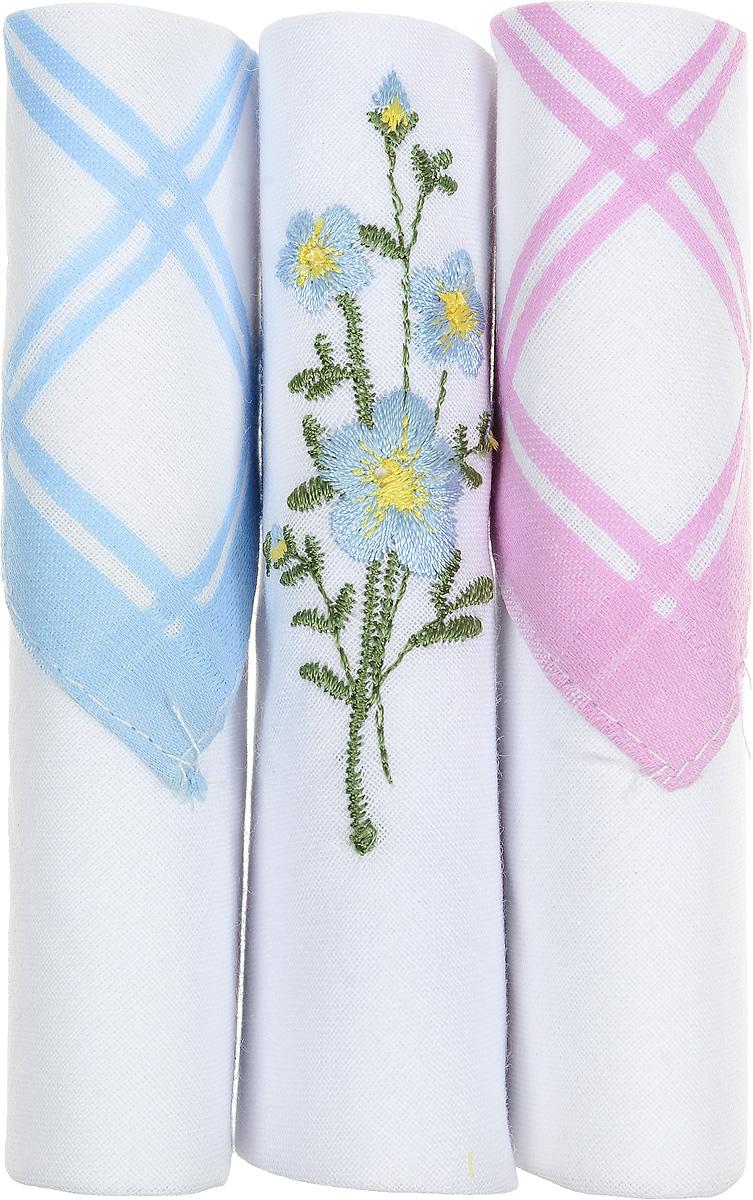 Платок носовой женский Zlata Korunka, цвет: голубой, белый, розовый, 3 шт. 40423-69. Размер 28 см х 28 см40423-69Небольшой женский носовой платок Zlata Korunka изготовлен из высококачественного натурального хлопка, благодаря чему приятен в использовании, хорошо стирается, не садится и отлично впитывает влагу. Практичный и изящный носовой платок будет незаменим в повседневной жизни любого современного человека. Такой платок послужит стильным аксессуаром и подчеркнет ваше превосходное чувство вкуса. В комплекте 3 платка.