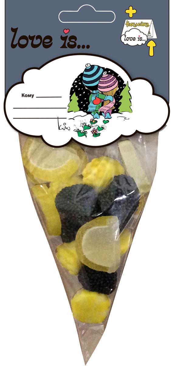 Love is мармелад БлэкМикс, 75 г70322Мармеладное изобилие от Love is: ежевика, дольки лимона и жевательный мармелад с жидким центром - этому коктейлю будет рад каждый. Добавьте любви в ваши будни! В каждой упаковке забавный стикер для коллекции. Уважаемые клиенты! Обращаем ваше внимание на то, что упаковка может иметь несколько видов дизайна. Поставка осуществляется в зависимости от наличия на складе.