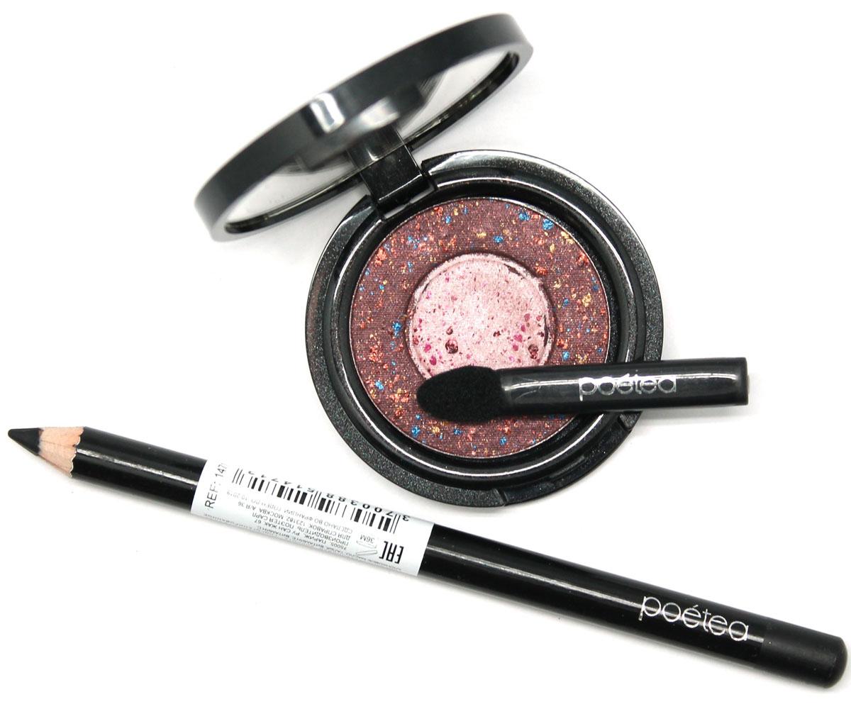 POETEQ набор гелевый карандаш для глаз и тени002722В состав набора входит: тени для век Медовый месяц и гелевый черный карандаш для глаз (черная ночь).