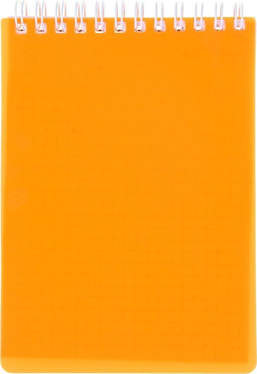 Hatber Блокнот Diamond Neon 80 листов цвет оранжевый1020818
