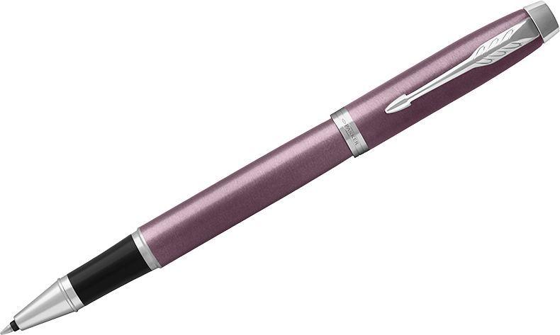 Parker Ручка-роллер IM Light Purple CT черная1931635Ручка-роллер в лакированном корпусе пурпурного цвета с круговой полировкой. Хромированная отделка деталей с полировкой