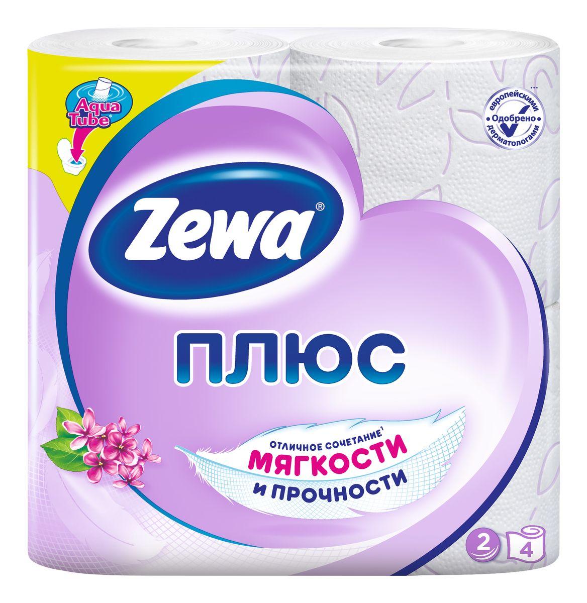 Туалетная бумага Zewa Плюс Сирень, 2 слоя, 4 рулона10503Туалетная бумага Zewa Плюс - это отличное сочетание мягкости и прочности. Она одобренадерматологами и прекрасно подойдет всем членам вашей семьи – и тем, кому нужна мягкая бумага, и тем, кому важна прочность.Позаботьтесьо себе и своих близких вместе с Zewa.Сенсация! Со смываемой втулкой Aqua Tube!Белая 2-х слойная туалетная бумага с сиреневым тиснением и ароматом сирени4 рулона в упаковкеСостав: вторичное сырьеПроизводство: Россия