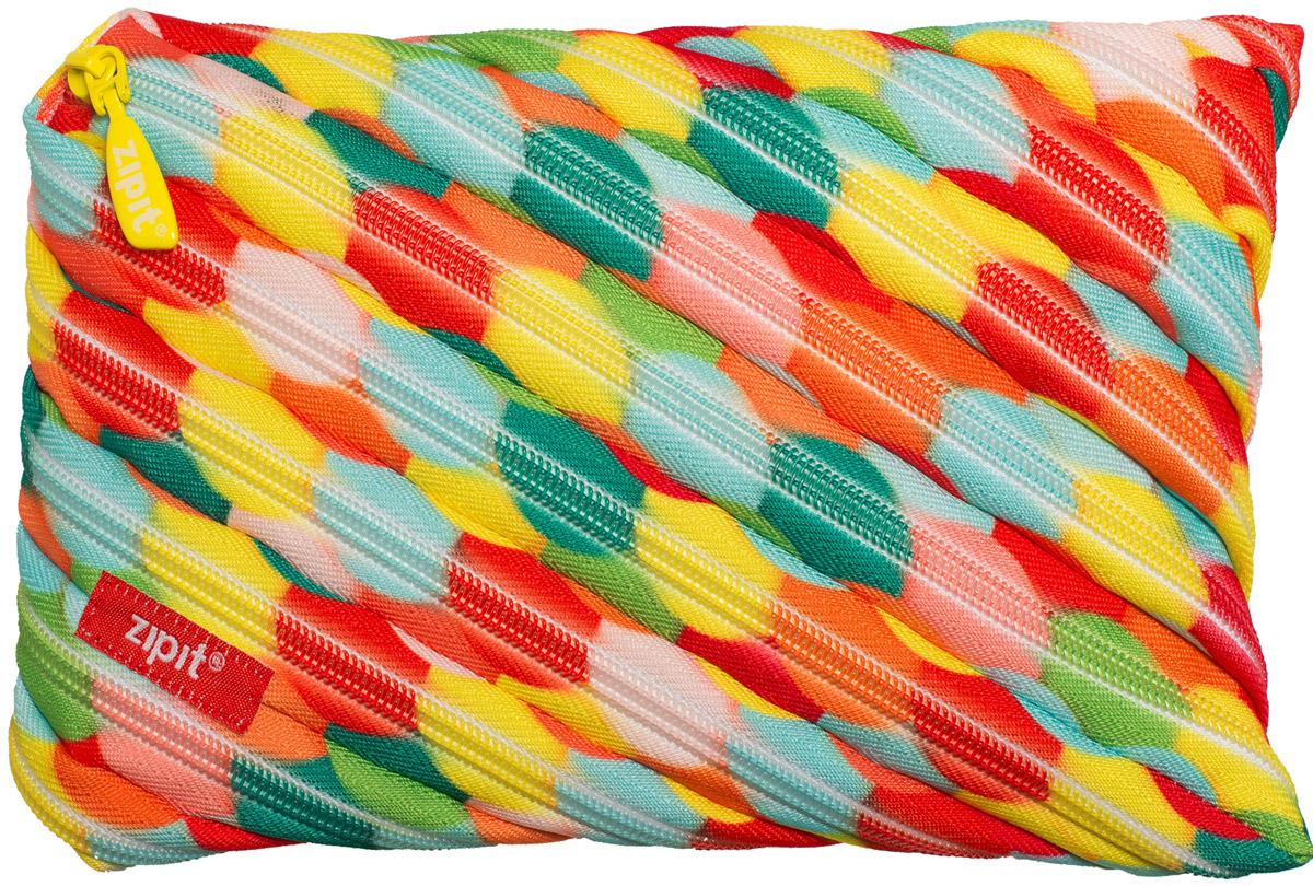 Zipit Пенал Colors Jumbo Pouch цвет мультиколор ZTJ-CZ-LBUB37493Яркий пенал Zipit Colors Jumbo Pouch изготовлен из одной длинной застежки-молнии и оформлен красочным принтом. Он удобен для разных мелочей и пишущих принадлежностей.