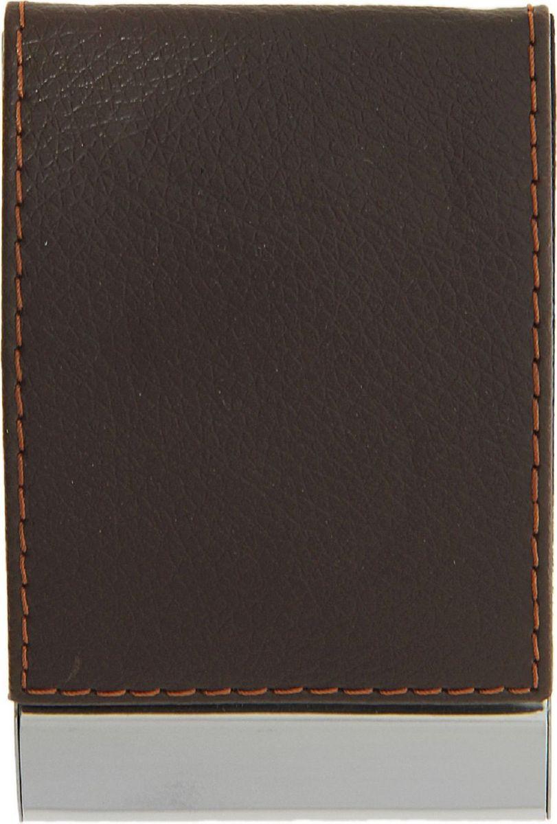 Визитница вертикальная цвет коричневый 116359INT-06501Что такое визитница для делового человека? Это удобный способ содержать все важные контакты под рукой или просто хранить свои собственные карточки. По отдельности они могут мяться или просто теряться.Визитница не только упорядочивает карточки, но и дисциплинирует самого хозяина и демонстрирует его статус окружающим.Визитница вертикальная, цвет коричневый — качественный и недорогой аксессуар для современного делового человека. Этот полезный предмет станет отличным подарком как коллегам, так и бизнес-партнерам.