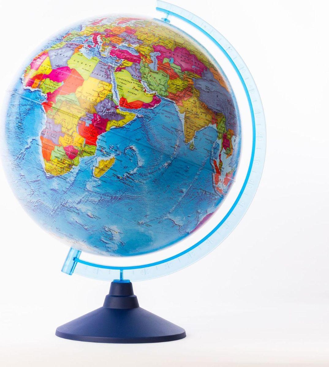 Глобен Глобус политический Классик Евро диаметр 32 см1259368Глобус для всех, глобус каждому! Глобус — самый простой способ привить ребенку любовь к географии. Он является отличным наглядным примером, который способен в игровой доступной и понятной форме объяснить понятия о планете Земля. Также интерес к глобусам проявляют не только детки, но и взрослые. Для многих уменьшенная копия планеты заменяет атлас мира из-за своей доступности и универсальности. Умный подарок! Кому принято дарить глобусы? Всем! Глобус политический диаметр 320мм Классик Евро — это уменьшенная копия земного шара, в которой каждый найдет для себя что-то свое. путешественники и заядлые туристы смогут отмечать с помощью стикеров те места, в которых побывали или собираются их посетить деловые и успешные люди оценят такой подарок по достоинству, потому что глобус ассоциируется со статусом и властью преподаватели, ученые, студенты или просто неординарные личности также найдут для глобуса достойное место в своем доме. Итак, спешите...