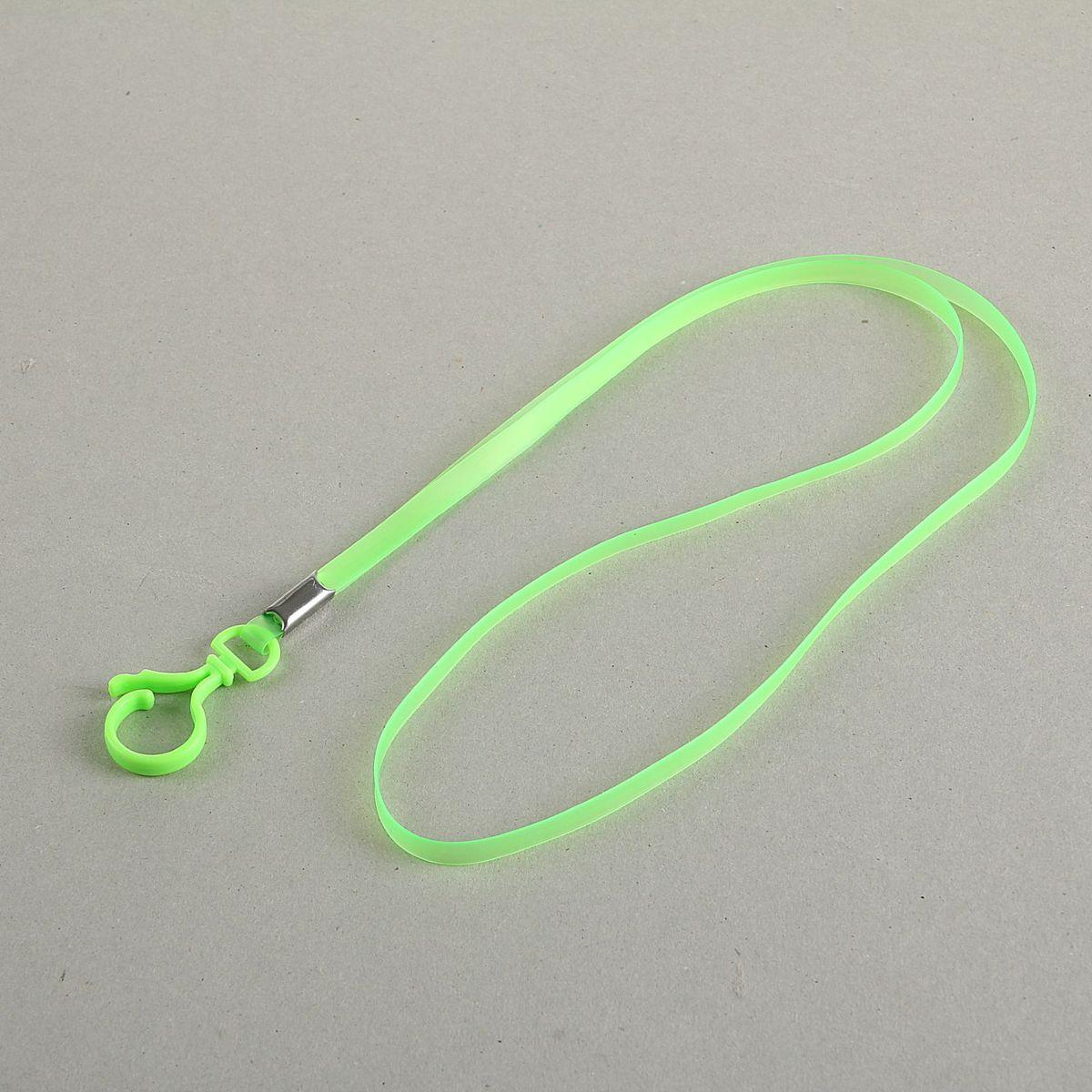 Лента для бейджа длина 38 см ширина 5 мм цвет зеленый 1965014