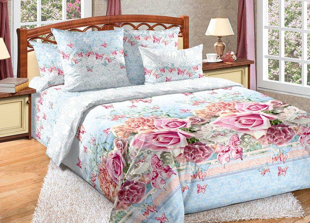 Комплект белья Primavera Розы и бабочки, 2-спальный, наволочки 70x7092092