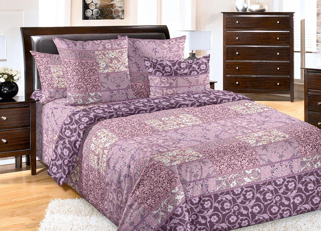 Комплект белья Primavera Цветок cиреневый, семейный, наволочки 70x7092136