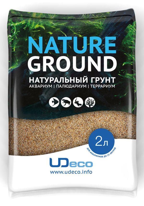 Грунт для аквариума UDeco Янтарный песок, натуральный, 0,4-0,8 мм, 2 л0120710Натуральный грунт UDeco Янтарный песок предназначен специально для оформления аквариумов, палюдариумов и террариумов.Грунт UDeco порадует начинающих любителей природы и самых придирчивых дизайнеров, стремящихся к созданию нового, оригинального. Такая декорация придутся по вкусу и обитателям аквариумов и террариумов, которые ещё больше приблизятся к природной среде обитания.Предназначен для аквариумов от 20 литров. Фракция: 0,4-0,8 мм.Объем: 2 л.