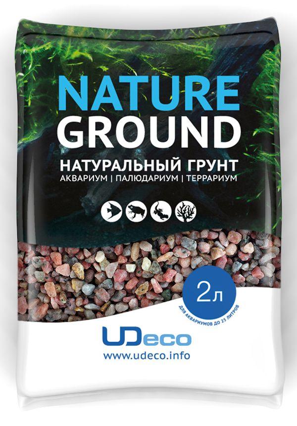 Грунт для аквариума UDeco Розовый гравий, натуральный, 6-8 мм, 2 л0120710Натуральный грунт UDeco Розовый гравий предназначен специально для оформления аквариумов, палюдариумов и террариумов. Изделие готово к применению.Грунт UDeco порадует начинающих любителей природы и самых придирчивых дизайнеров, стремящихся к созданию нового, оригинального. Такая декорация придутся по вкусу и обитателям аквариумов и террариумов, которые ещё больше приблизятся к природной среде обитания.Необходимое количество грунта рассчитывается по формуле:длина аквариума х ширина аквариума х толщина слоя грунта.Предназначен для аквариумов от 20 литров. Фракция: 6-8 мм.Объем: 2 л.