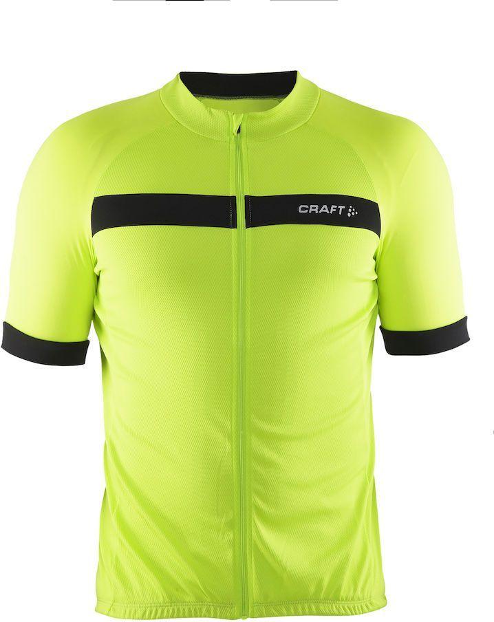 Футболка мужская для велоспорта Craft Motion Bike, цвет: салатовый, черный. 1903297. Размер M1903297Мягкая, обтягивающая рубашка для велоезды