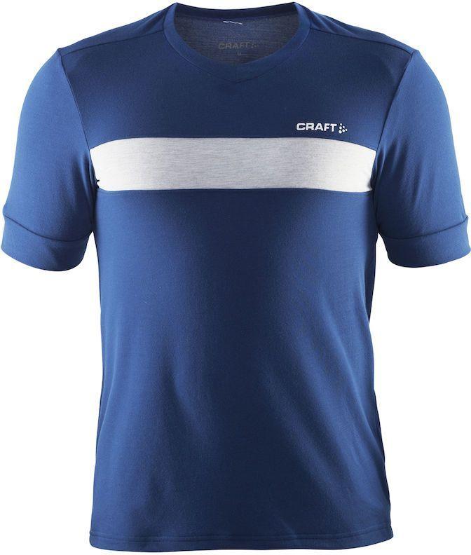 Футболка мужская для велоспорта Craft Escape Bike, цвет: синий. 1904052. Размер S1904052Мягкая и свободная футболка для велоезды с карманом на молнии на спине