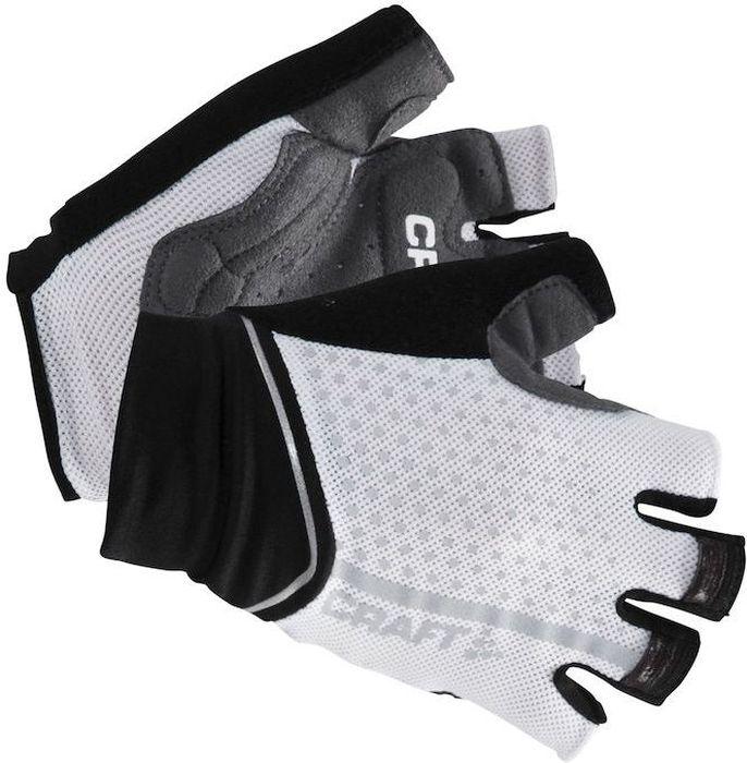 Велоперчатки Craft Glow, цвет: белый, черный. 1904123. Размер XS (7)1904123Износостойкие велоперчатки с гелевыми амортизирующими зонами и силиконовым нанесением для оптимального комфорта, защиты и сцепления.