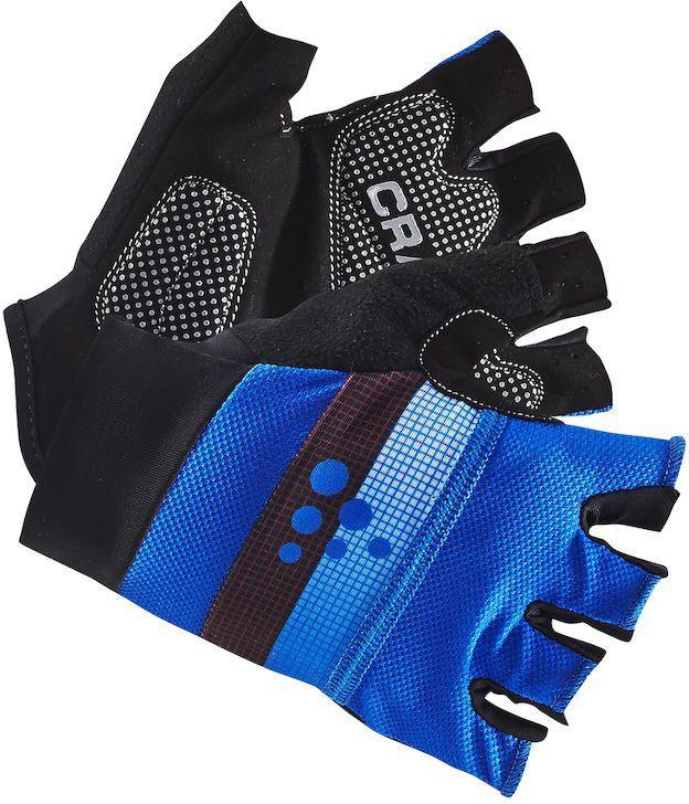 Велоперчатки Craft Classic, цвет: черный, синий. 1903304. Размер L (10)AG-Cycling shoes-26-29Легкие перчатки с гелевыми вставками на точках давления и удобной посадкой