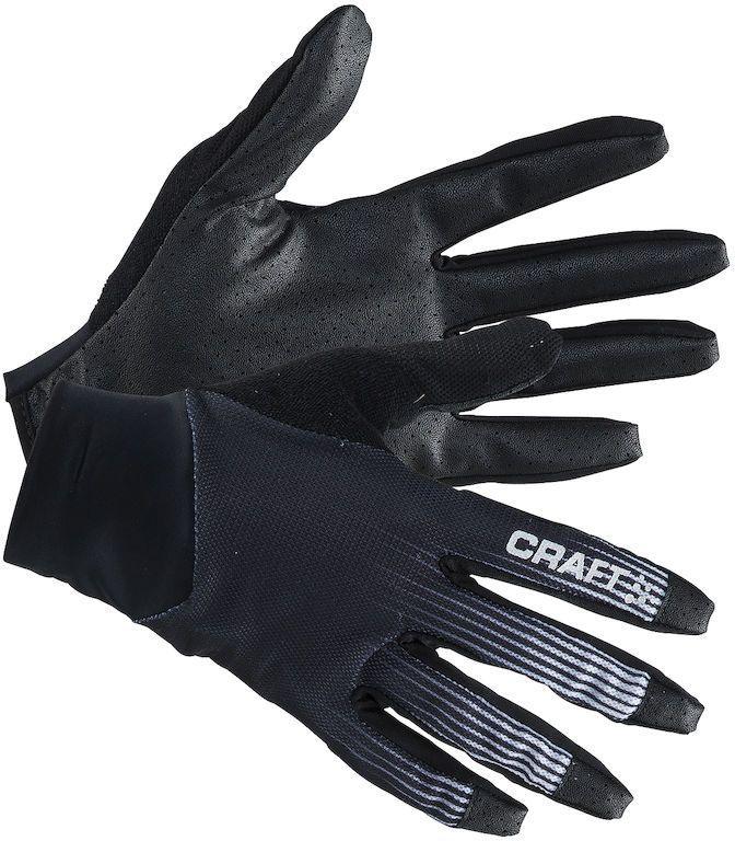 Велоперчатки Craft Route, цвет: черный, белый. 1904884. Размер S (8)AG-Cycling shoes-26-29Перчатки с полным покрытием пальцев, с прекрасной посадкой и силиконовым принтом для более оптимального захвата рукоятки