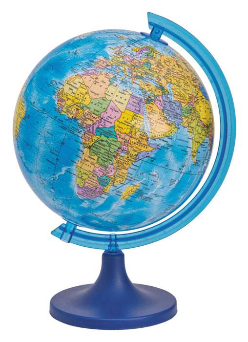 Глобус DMB, c политической картой мира, диаметр 16 см + Мини-энциклопедия Страны МираFS-00897Политический глобус DMB, изготовленный из высококачественногопрочного пластика, дает представление о политическом устройстве мира.Изделие расположено на подставке. Все страны мира раскрашены в разныецвета. На политическом глобусе показаны границы государств, столицы икрупные населенные пункты, а также картографические линии: параллели имеридианы, линия перемены дат. Названия стран на глобусе приведены нарусском языке. Ничто так не обеспечивает всестороннего и детальногоизучения политического устройства мира в таком сжатом и объемном образе,как политический глобус. Сделайте первый шаг в стимулирование своегообучения! К глобусу прилагается мини-энциклопедия Страны Мира с краткимописанием всех стран. Настольный глобус DMB станет оригинальным украшением рабочегостола или вашего кабинета. Это изысканная вещь для стильного интерьера,которая станет прекрасным подарком для современного преуспевающегочеловека, следующего последним тенденциям моды и стремящегося кэлегантности и комфорту в каждой детали.Высота глобуса с подставкой: 24 см.Диаметр глобуса: 16 см.Масштаб: 1:80 000 000.