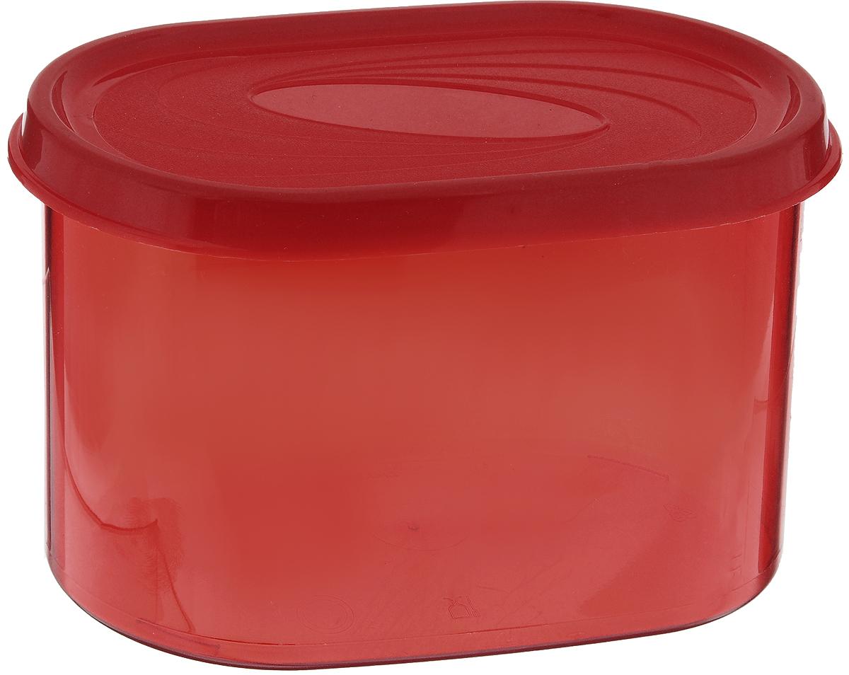 Банка для сыпучих продуктов Giaretti, цвет: красный, 0,8 лGR2227_красныйБанка для сыпучих продуктов предназначена для хранения круп, сахара, макаронных изделий и т.п., в том числе для продуктов с ярким ароматом (специи и пр.). Плотно прилегающая крышка не пропускает запахи содержимого в шкаф для хранения, при этом продукт не теряет своего аромата. Банки легко устанавливаются одна на другую.