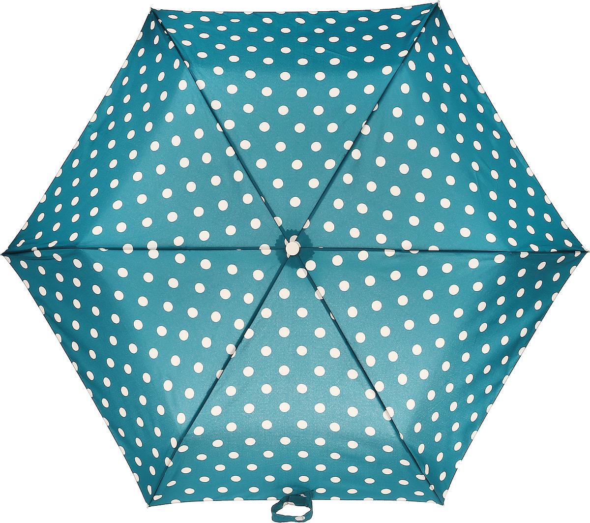 Зонт женский Fulton, механический, 3 сложения, цвет: зеленый, бежевый. L768-3234L768-3234 ButtonSpotRichGreenСтильный механический зонт Fulton имеет 3 сложения, даже в ненастную погоду позволит вам оставаться стильной. Легкий, но в тоже время прочный алюминиевый каркас состоит из шести спиц с элементами из фибергласса. Купол зонта выполнен из прочного полиэстера с водоотталкивающей пропиткой. Рукоятка закругленной формы, разработанная с учетом требований эргономики, выполнена из каучука. Зонт имеет механический способ сложения: и купол, и стержень открываются и закрываются вручную до характерного щелчка.