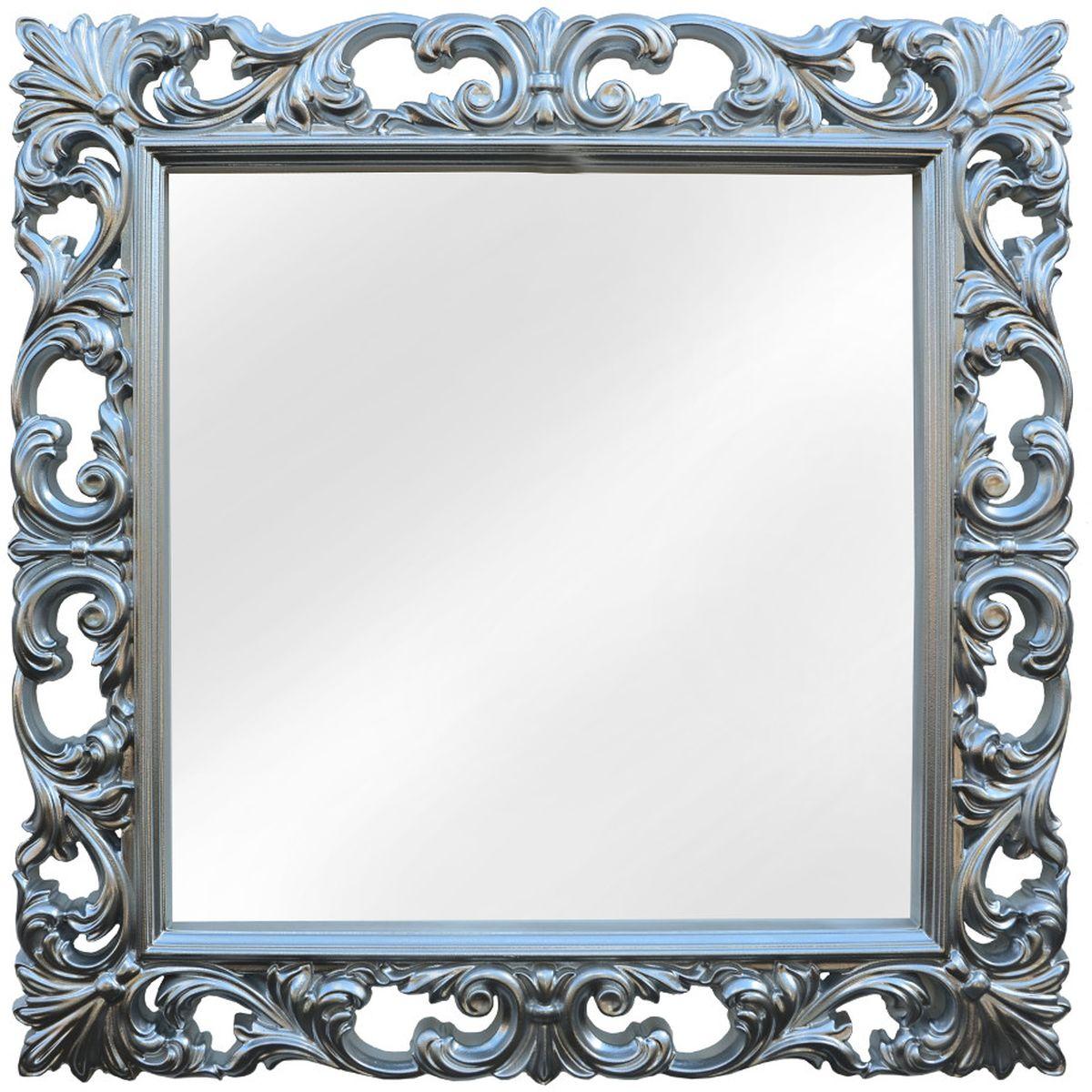 Зеркало VezzoLLi Нованто, цвет: серый металлик, 90 х 90 см25-21Подвесы в комплекте. Видимый размер зеркала 63х63 см. Ширина обрамления 13,5 см.