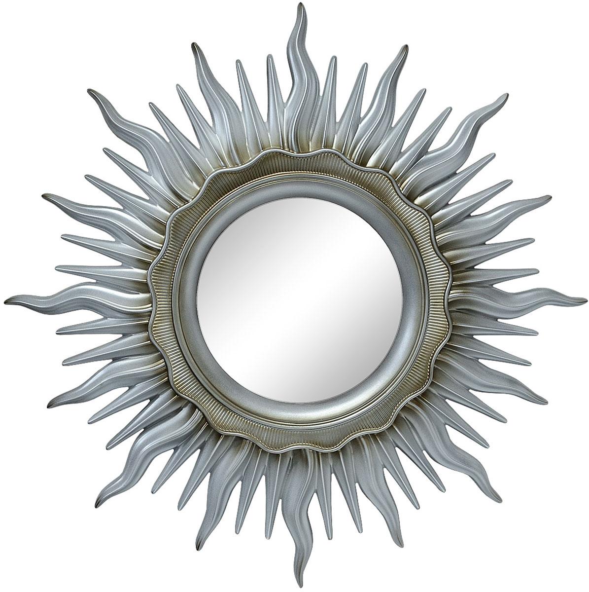Зеркало VezzoLLi Астро, цвет: серый металлик, диаметр 96 см11-21