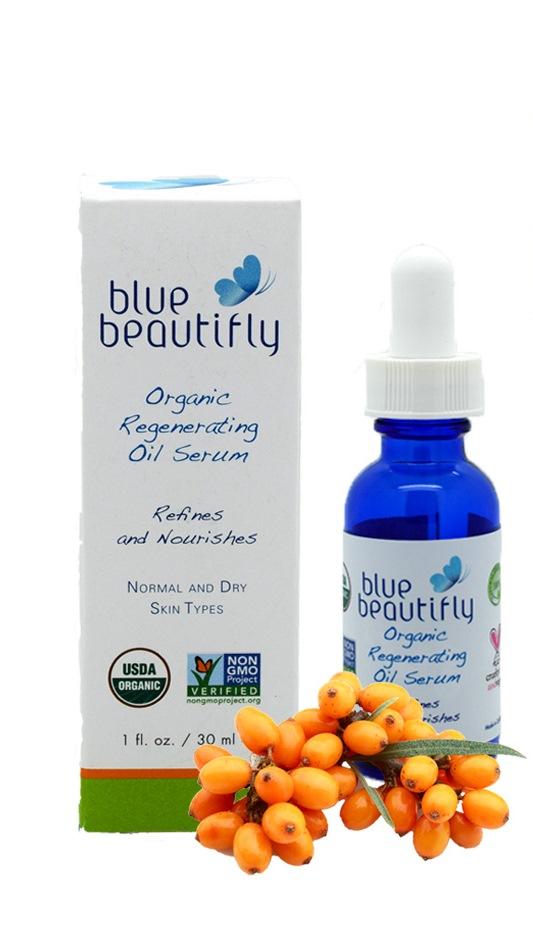 Blue Beautifly Органическая восстанавливающая сыворотка для лица, 30 млBB-003Для нормальной и сухой кожи. Мощный органический комплекс борется с внешними признаками старения, ускоряет естественный процесс регенерации кожи. Сочетание органических масел и цветочных стволовых клеток поддерживает естественную функцию липидного барьера вашей кожи и удерживает влагу. Экстракты лепестков цветов Бессмертника, Календулы, Ромашки и Лаванды обладают мощными успокаивающим и противовоспалительным свойствами, а органические масла: Облепихи, Граната, Таману, черного Тмина, Арганы, Жожоба, семян Камелии, Кокосовое и Оливковое масла восстановливают естественное сияние кожи, увеличивают выработку коллагена и борятся с пигментными пятнами и морщинами. Ароматерапевтическая смесь Мандарина, Лаванды, Иланг-Иланга, Жасмина и эфирного масла цветов Апельсина восстанавливает кожу и поднимает настроение. При непрерывном использовании кожа обретает здоровый, увлажненный и сияющий вид. USDA сертифицированный органический продукт.