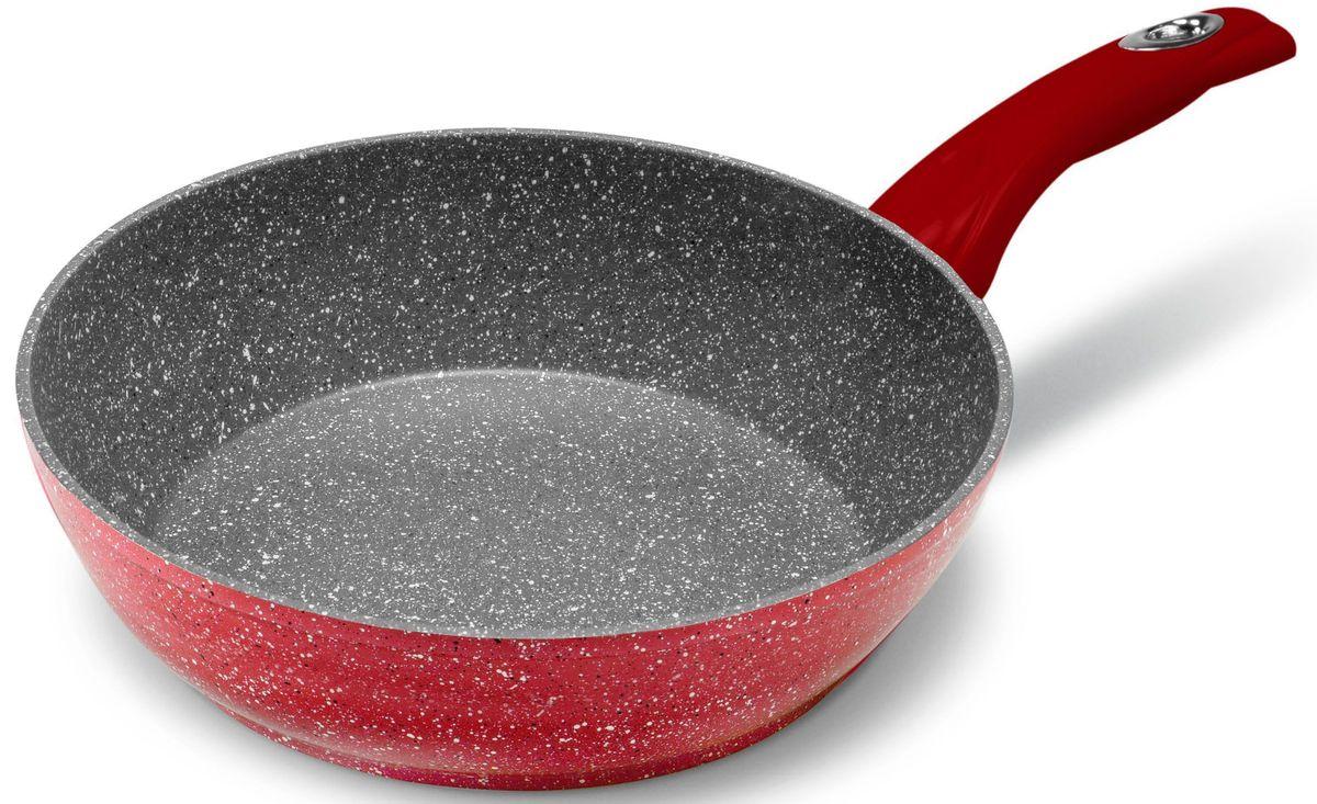 Сковорода MOULINvilla Raspberry, глубокая, для индукционных плит, диаметр: 24 см300196Новая серия посуды RASPBERRY сочетает высокопрочное покрытие и новейший дизайн, изящные формы в совершенном исполнении от компании MoulinVilla. При производстве сковород серии Raspberry используется современное антипригарное покрытие на водной основе. Используемое покрытие не содержит вредных для здоровья человека веществ, таких как свинец, кадмий и PFOA (перфтороктановая кислота в 2006 году признана канцерогеном). При соблюдении рабочих температур эксплуатации данное покрытие не вступает в реакцию с пищей, что делает его абсолютно безопасным для приготовления любых блюд. Данные сковороды подходят для всех типов плит, подходят для посудомоечной машины, готовить и ухаживать за сковородой стало еще удобнее.