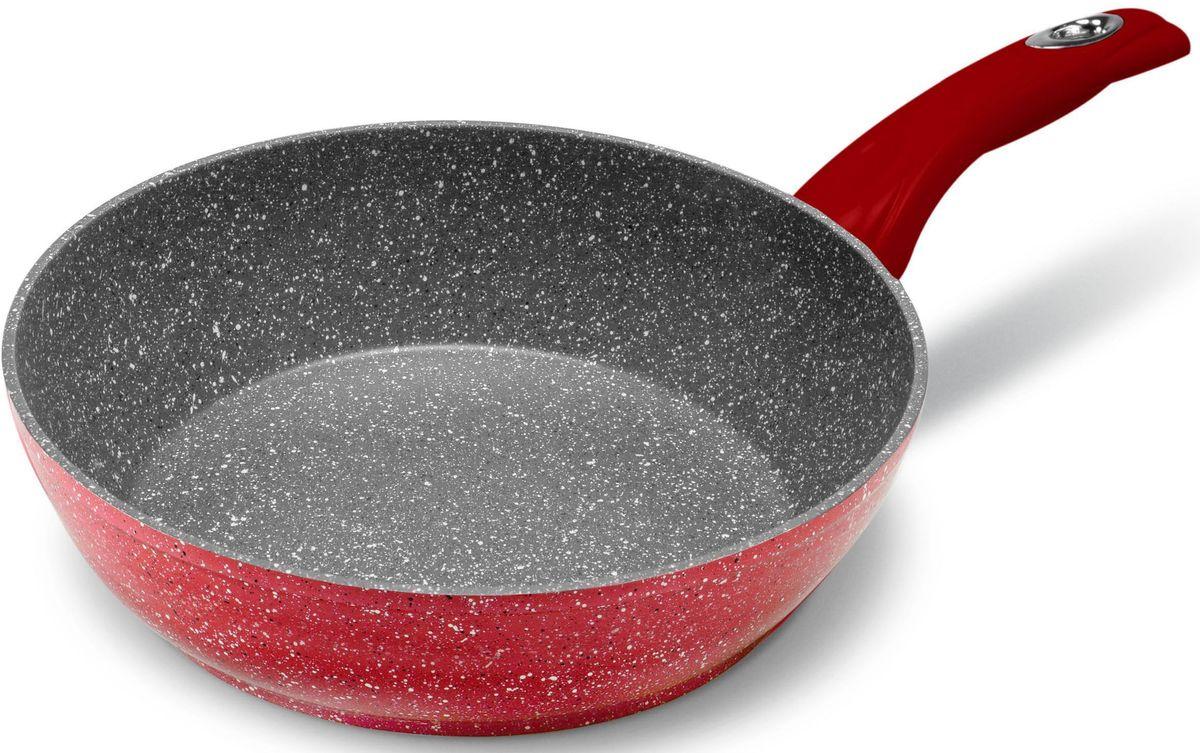 Сковорода MOULINvilla Raspberry, глубокая, для индукционных плит, диаметр: 28 смRSB-28-DIНовая серия посуды RASPBERRY сочетает высокопрочное покрытие и новейший дизайн, изящные формы в совершенном исполнении от компании MoulinVilla. При производстве сковород серии Raspberry используется современное антипригарное покрытие на водной основе. Используемое покрытие не содержит вредных для здоровья человека веществ, таких как свинец, кадмий и PFOA (перфтороктановая кислота в 2006 году признана канцерогеном). При соблюдении рабочих температур эксплуатации данное покрытие не вступает в реакцию с пищей, что делает его абсолютно безопасным для приготовления любых блюд. Данные сковороды подходят для всех типов плит, подходят для посудомоечной машины, готовить и ухаживать за сковородой стало еще удобнее.