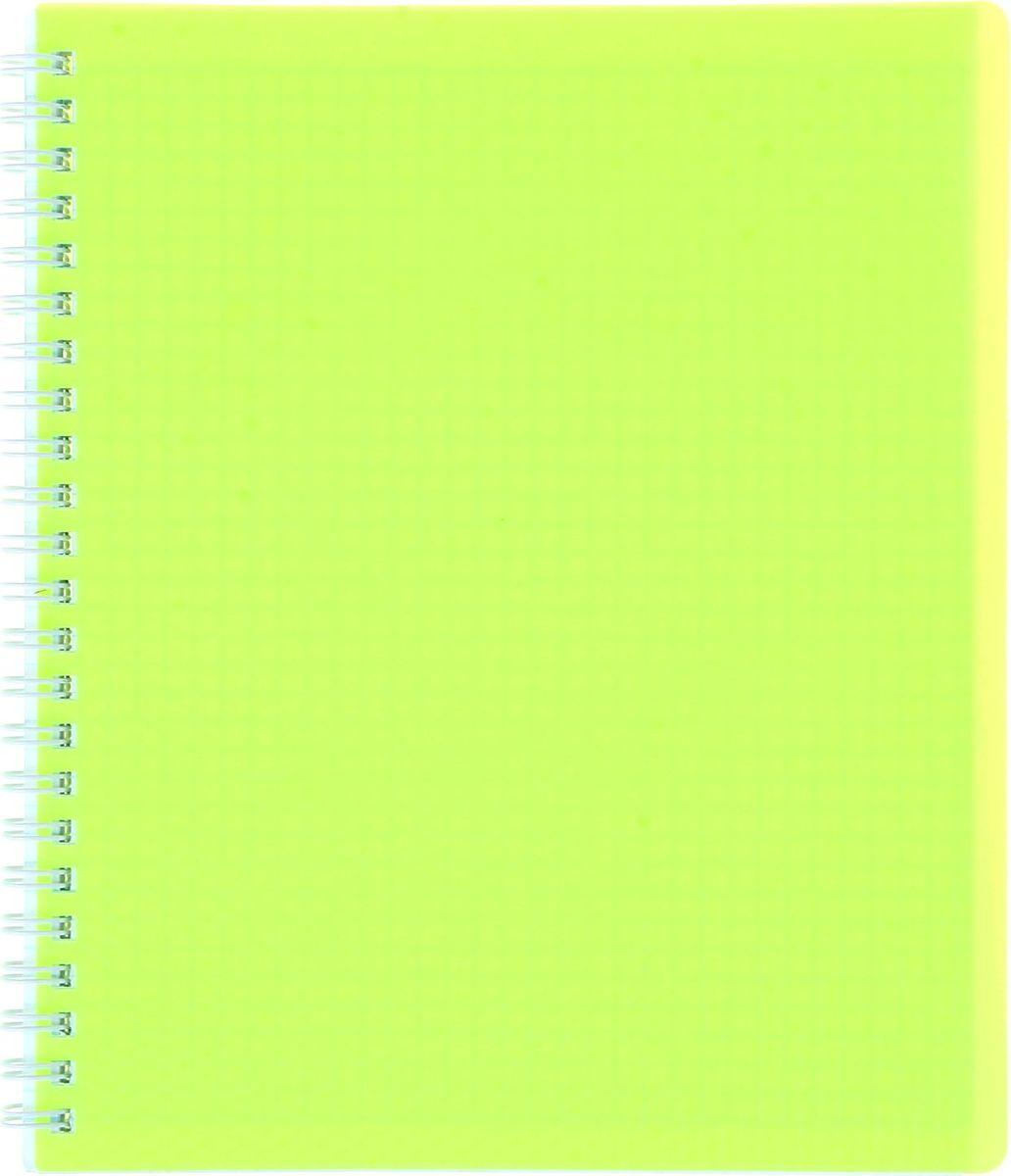 Hatber Тетрадь Diamond Neon 80 листов в клетку цвет желтый1020842