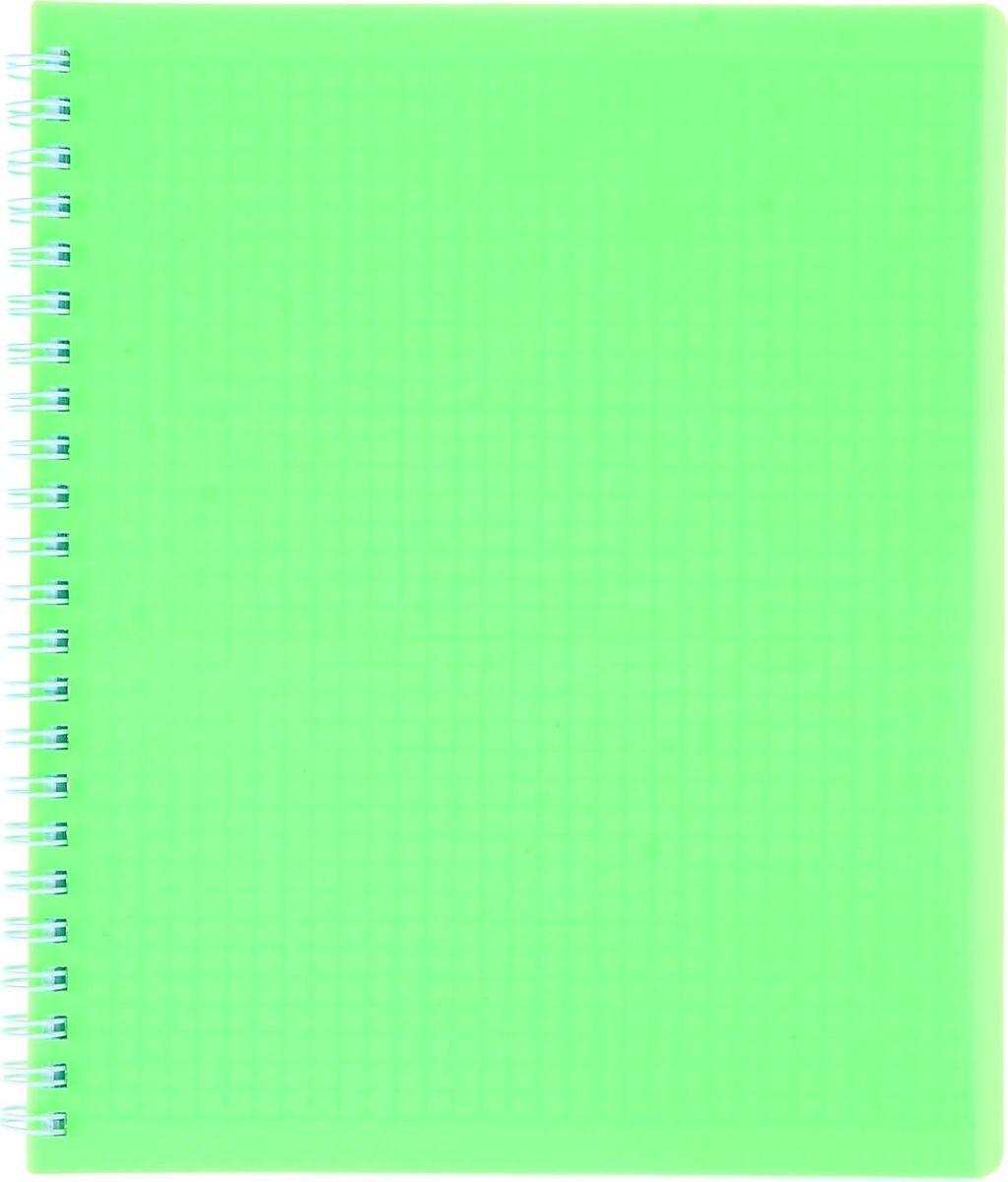 Hatber Тетрадь Diamond Neon 80 листов в клетку цвет зеленый1020843
