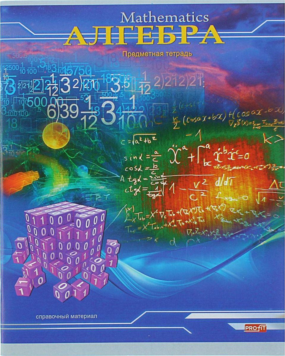 Profit Тетрадь Трехмерное пространство Алгебра 36 листов в клетку1334328