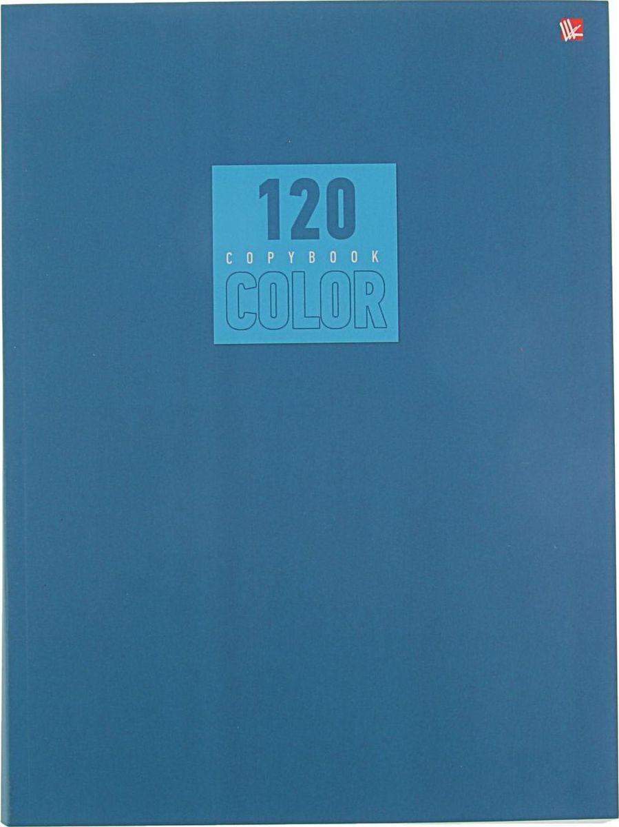 Эксмо Тетрадь Стиль и цвет 120 листов в клетку цвет синий2174075