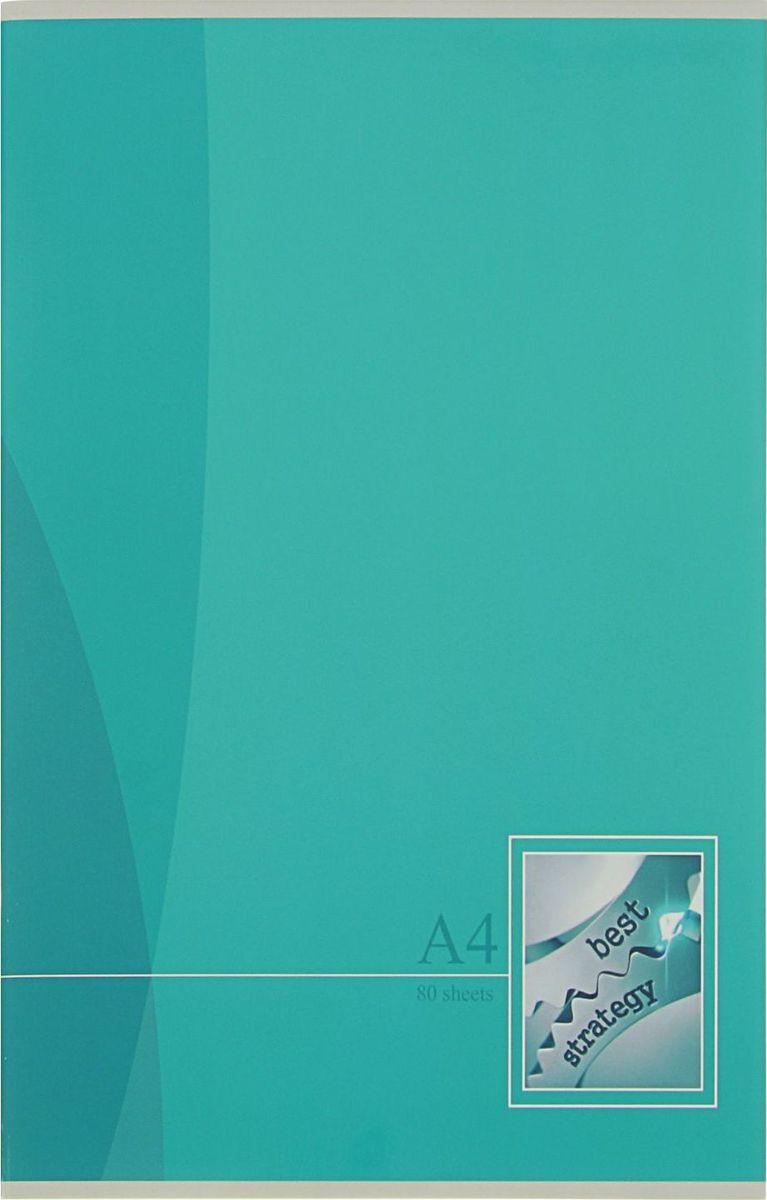 BG Тетрадь Mono Color 80 листов в линейку цвет бирюзовый2304400
