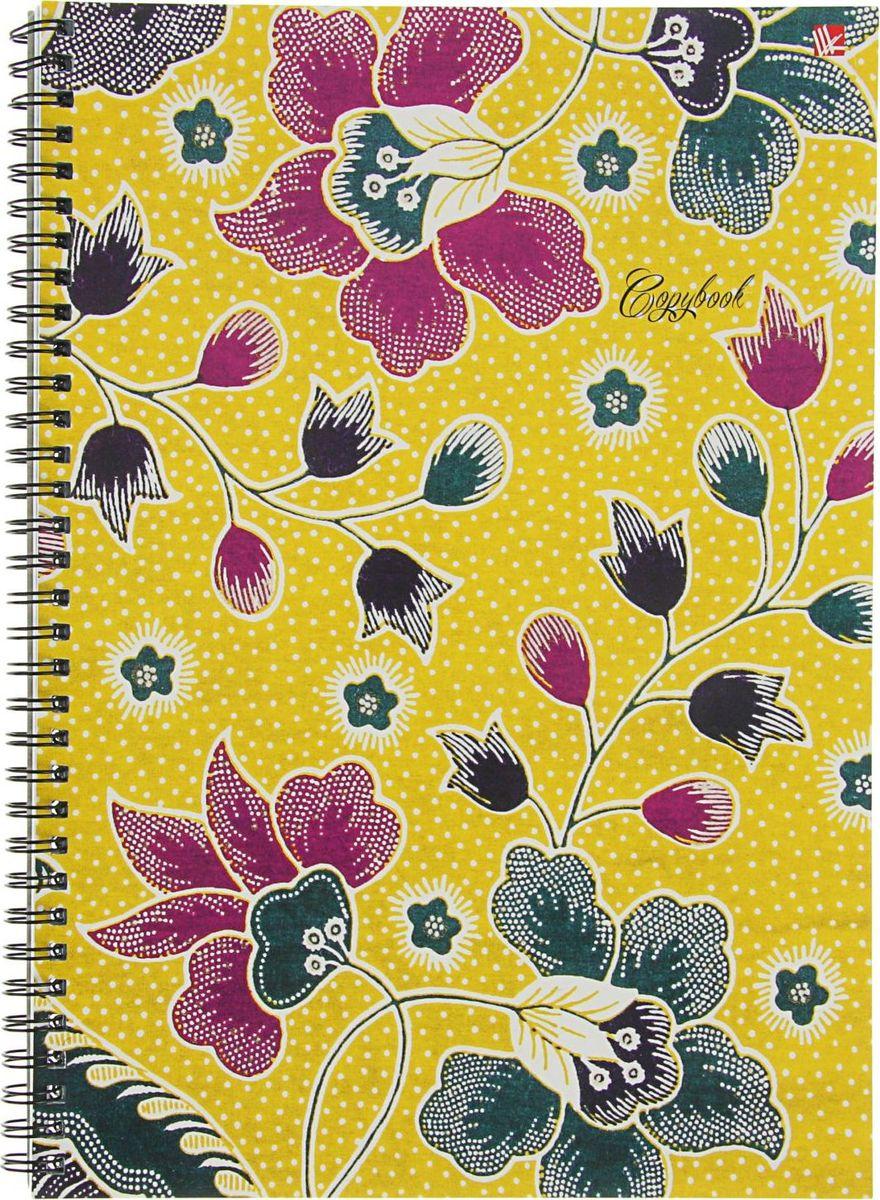 Эксмо Тетрадь Орнамент Цветочное настроение 96 листов в клетку2322675