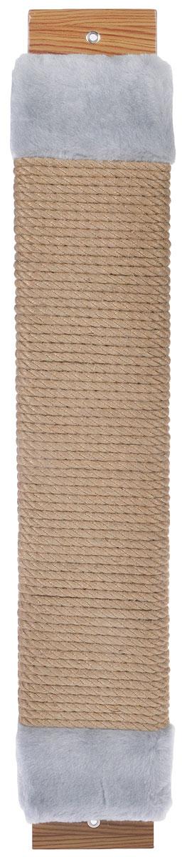 Когтеточка Неженка, джутовая, с кошачьей мятой, цвет: серый, бежевый, 68 х 11 х 3,5 см7140_серыйКогтеточка Неженка поможет сохранить мебель и ковры в доме от когтей вашего любимца, стремящегося удовлетворить свою естественную потребность точить когти. Основание изделия изготовлено из ДСП и обтянуто прочной тканью, а столб для точения когтей обтянут джутом. Товар продуман в мельчайших деталях и, несомненно, понравится вашей кошке. Всем кошкам необходимо стачивать когти. Когтеточка - один из самых необходимых аксессуаров для кошки. Для приучения к когтеточке можно натереть ее сухой валерьянкой или кошачьей мятой. Когтеточка поможет вашему любимцу стачивать когти и при этом не портить вашу мебель.