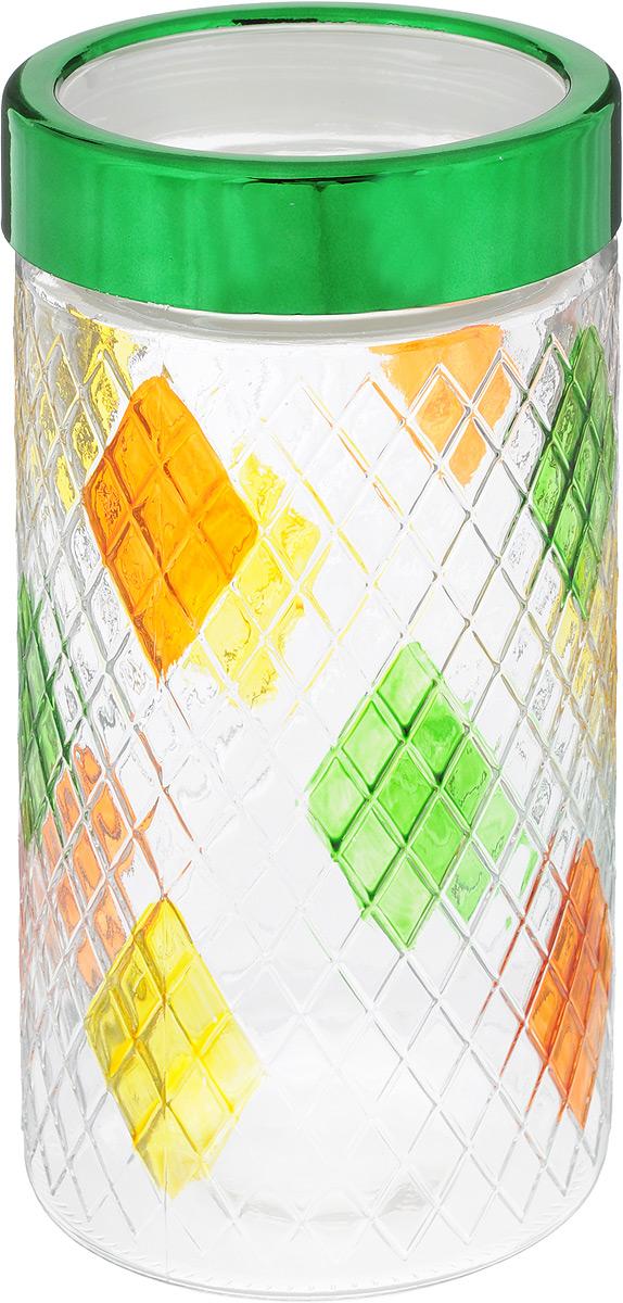 Банка для сыпучих продуктов Bohmann, цвет: зеленый, прозрачный, желтый, 1,7 л01334BHGNEWБанка Bohmann изготовлена из стекла. Емкость снабжена пластиковой крышкой, которая плотно закрывается, дольше сохраняя аромат и свежесть содержимого. Банка подходит для хранения сыпучих продуктов: круп, специй, сахара, соли и прочего. Такая банка станет полезным приобретением и пригодится на любой кухне. Диаметр (по верхнему краю): 9 см. Высота (без учета крышки): 22 см.