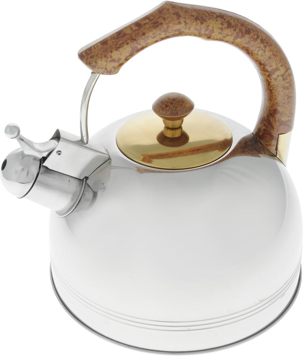 Чайник металлический BHL - 655 GDO /3,0л./ (х12)655BHLGDOЧайник Емкость 3,0л Нержавеющая сталь. Коричневая бакелитовая ручка - не нагревается. Дно подходит ДЛЯ ИНДУКЦИИ.
