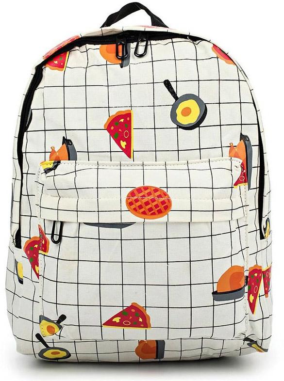 Рюкзак женский Kawaii Factory Еда, цвет: белый, черный. KW102-000224KW102-000224