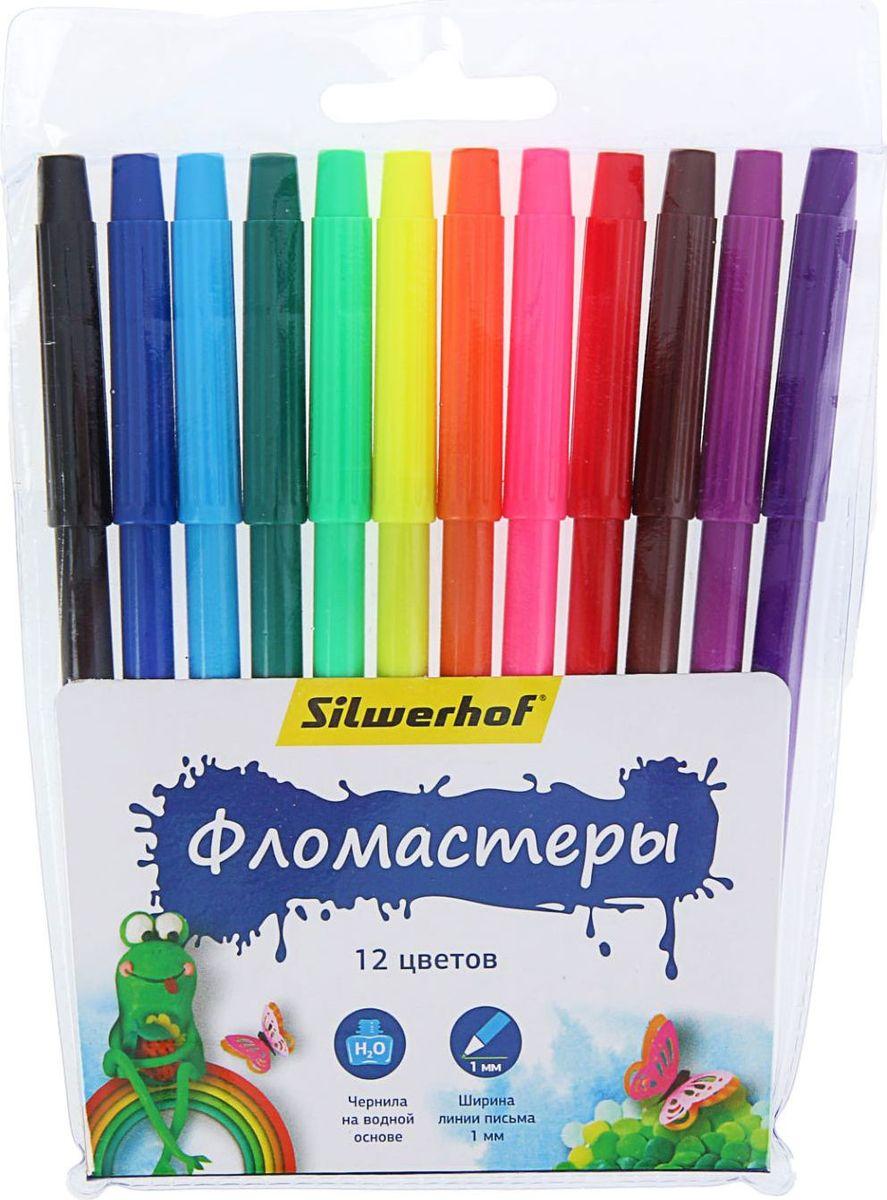 Silwerhof Набор фломастеров Пластилиновая коллекция 12 цветов1384627